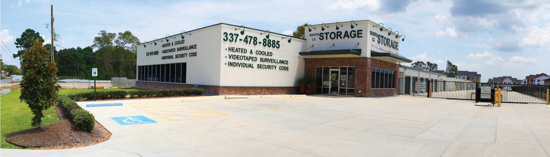 Front of South Lake Charles Self Storage Facility