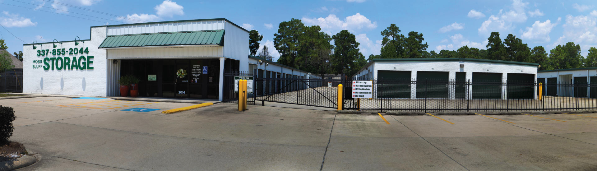 Front of Moss Bluff Storage Facility